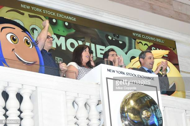 Director Tony Leondis Producer Michelle Raimo Kouyate Actor Jake T Austin and Vice President of the NYSE Listings and NYSE Services Chris Taylor ring...