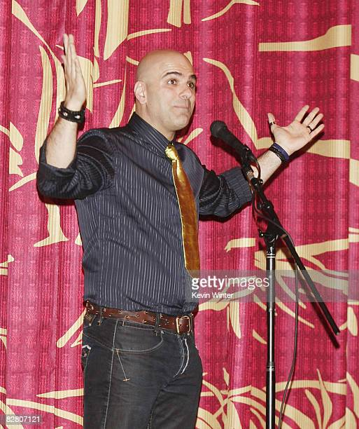 Director Tony Leondis speaks to the audience at the premiere of Exodus Film Group's 'Igor' at the Chinese Theater on September 13 2008 in Los Angeles...