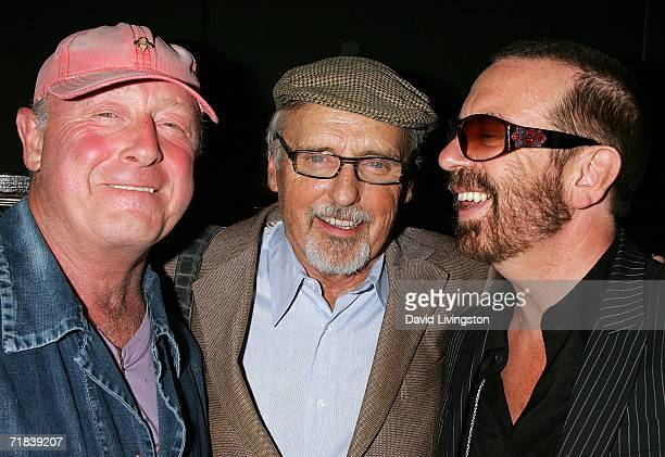 Director Tony Scott actor Dennis Hopper and musician Dave Stewart attend the reception for a new song honoring the 35th anniversary of Greenpeace's...