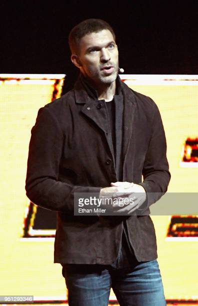 Director Travis Knight speaks onstage during the CinemaCon 2018 Paramount Pictures Presentation Highlighting Its Summer of 2018 and Beyond at The...