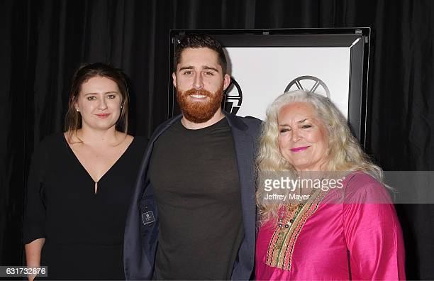 Director Trey Edward Shults and actress Krisha Fairchild attend the 42nd annual Los Angeles Film Critics Association Awards at InterContinental Los...