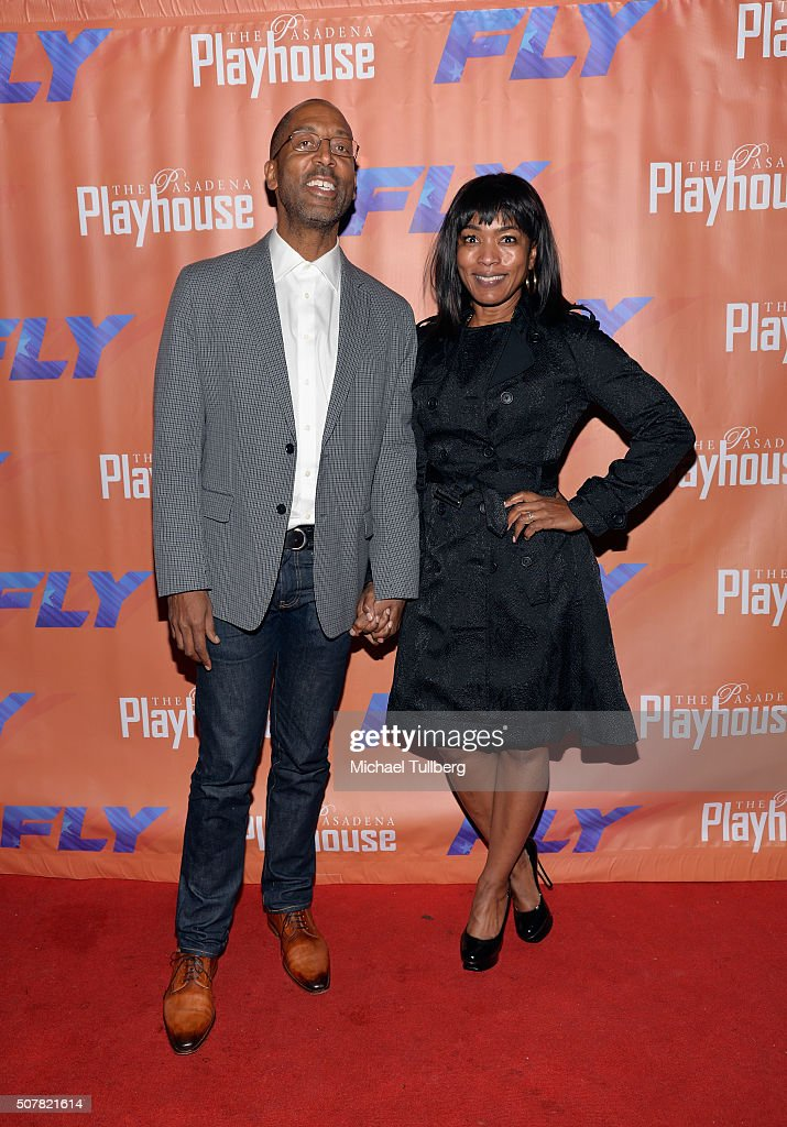 Director Trey Ellis and actress Angela Bassett attend the opening night of the play 'Fly' at Pasadena Playhouse on January 31, 2016 in Pasadena, California.
