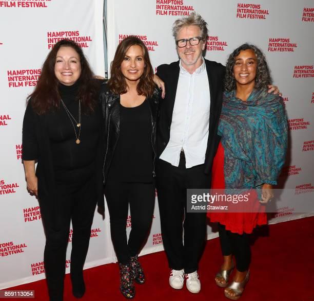 Director Trish Adlesic Producer Mariska Hargitay Director Jim McKay and Director Geeta Gandbhir attend the red carpet for I Am Evidence during...