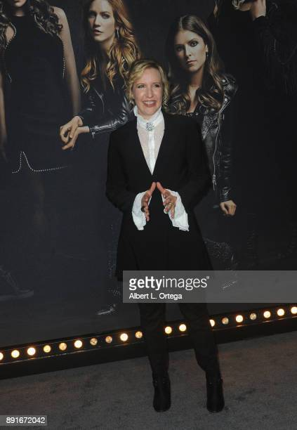 Director Trish Sie arrives for the Premiere Of Universal Pictures' 'Pitch Perfect 3' held at The Dolby Theater on December 12 2017 in Hollywood...