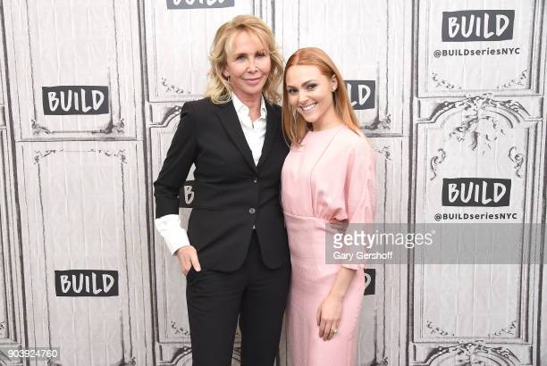 Director Trudie Styler and actress AnnaSophia Robb visit Build Series to discuss the film 'Freak Show' at Build Studio on January 11 2018 in New York...