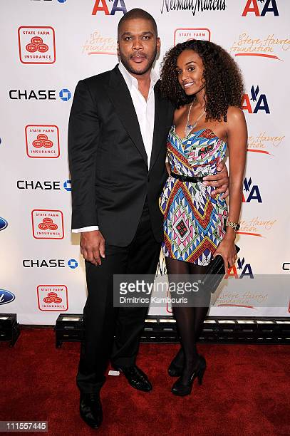 Director Tyler Perry and model Gelila Bekele attend the 2nd annual Steve Harvey Foundation Gala at Cipriani, Wall Street on April 4, 2011 in New York...