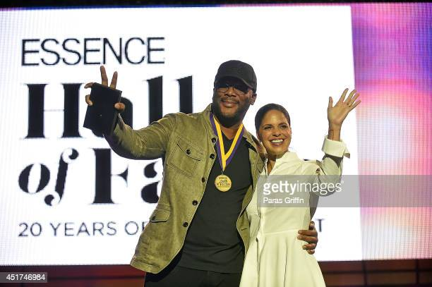 Director Tyler Perry and television personality Soledad O'Brien attends the 2014 Essence Music Festival on July 5 2014 in New Orleans Louisiana