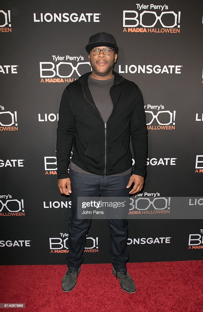 FL: Director Tyler Perry attends Miami Screening of BOO! A MADEA HALLOWEEN
