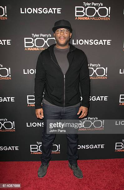 Director Tyler Perry attends Miami Screening of BOO A MADEA HALLOWEEN on October 11 2016 in Miami Florida