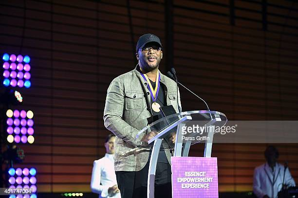 Director Tyler Perry attends the 2014 Essence Music Festival on July 5 2014 in New Orleans Louisiana Perry was an Essence Empowerment Hall of Fame...