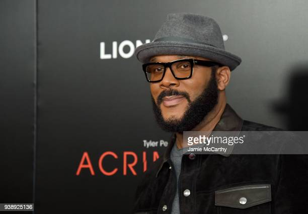 Director Tyler Perry attends the Acrimony New York Premiere on March 27 2018 in New York City