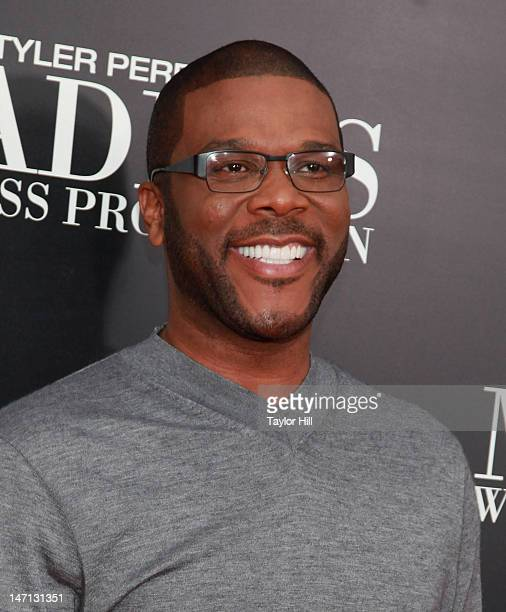Director Tyler Perry attends Tyler Perry's Madea's Witness Protection New York Premiere at AMC Lincoln Square Theater on June 25 2012 in New York City