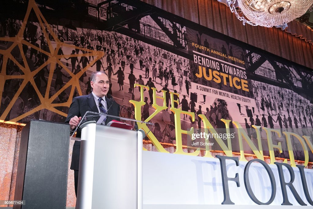 Director University of Chicago Institute of Politics David Axelrod was among the advocates speaking at The Kennedy Forum National Summit On Mental Health Equity And Justice In Chicago at the Chicago Hilton and Tower Hotel on January 16, 2018 in Chicago, Illinois.