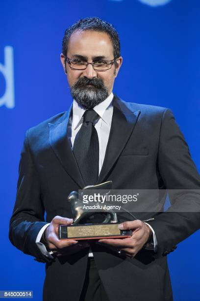 Director Vahid Jalilvand wins Orizzonti prize for the Best Direction with the movie 'Bedoune Tarikh Bedoune Emza ' during Ceremony Awards of the 74th...