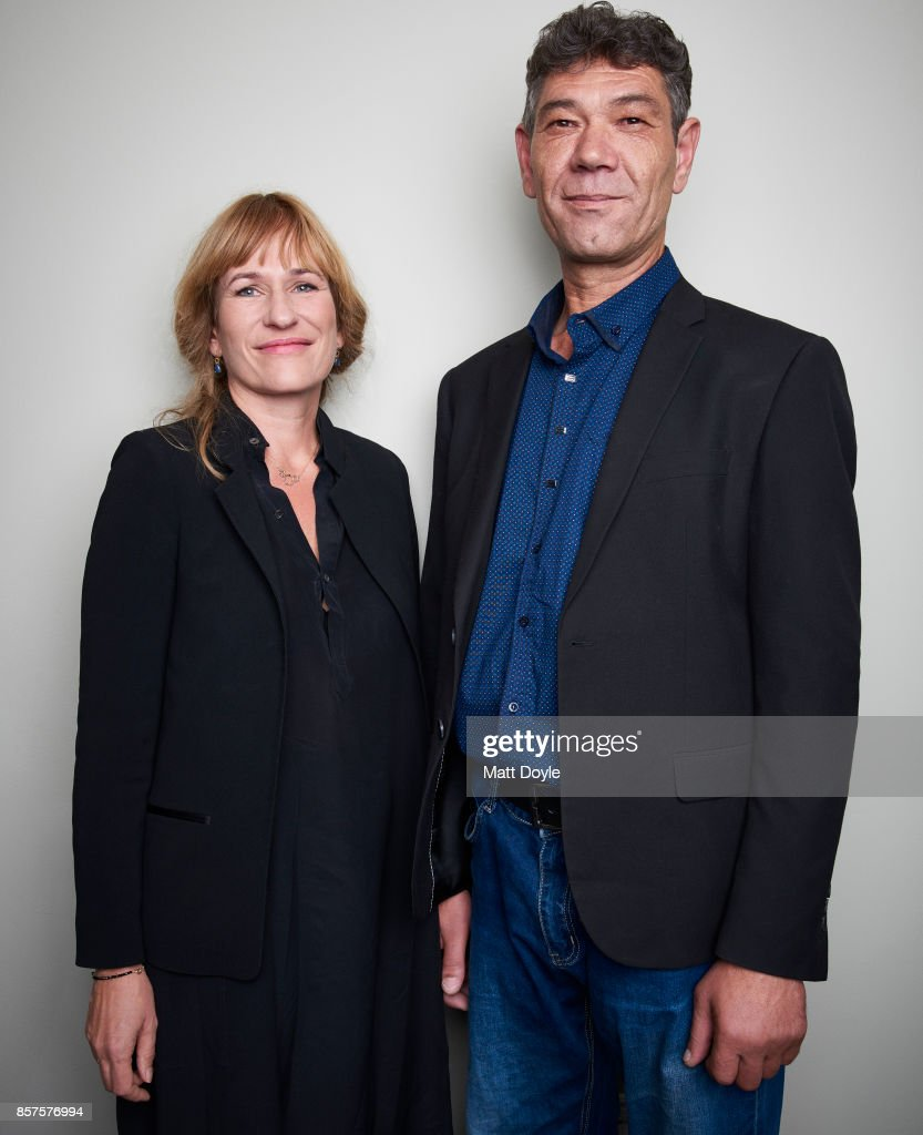 Director Valeska Grisebach and Syuleyman Alilov Lefitov from the film 'Western' pose for a portrait at the 55th New York Film Festival on October 1, 2017.