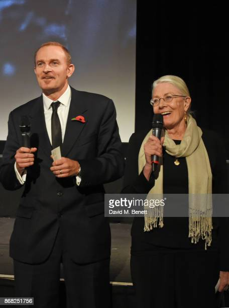 Director Vanessa Redgrave and producer Carlo Gabriel Nero speak at a special screening of their film Sea Sorrow a documentary about child refugees in...