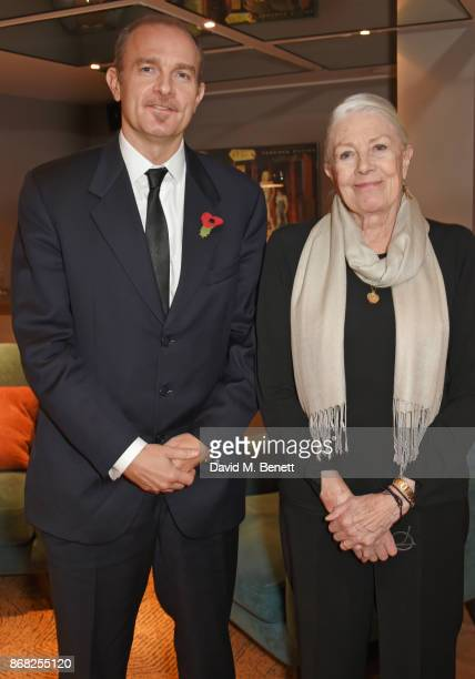 Director Vanessa Redgrave poses with son and producer Carlo Gabriel Nero at a special screening of their film Sea Sorrow a documentary about child...