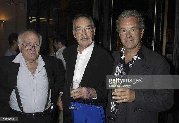 Director Vicente Aranda with Richard Johnson and actor Jay Benedict attend the UK Gala Film Premiere of Carmen at the Curzon Mayfair on September 5...