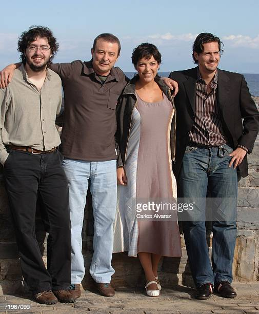 Director Victor Garcia Leon actor Juan Diego actress Cristina Plazas and actor Juan Diego Botto attend a photocall for Vete de Mi during the second...