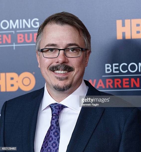 Director Vince Gilligan attends Becoming Warren Buffett World premiere at The Museum of Modern Art on January 19 2017 in New York City