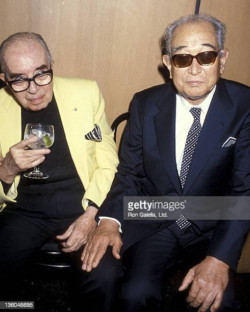 Director Vincente Minnelli and director Akira Kurosawa attend the Directors Guild of America's Golden Juliee Special Award for Directorial...