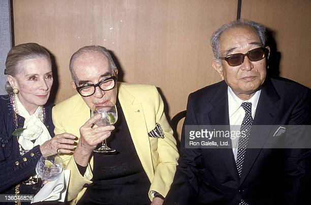 Director Vincente Minnelli wife Lee Minnelli and director Akira Kurosawa attend the Directors Guild of America's Golden Juliee Special Award for...