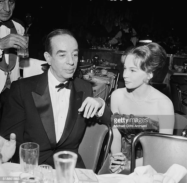Director Vincente Minnelli with Georgette Magnani attend an event in Los AngelesCA