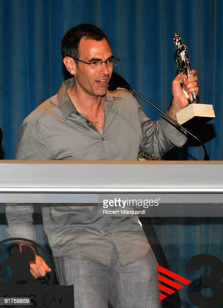 Director Vincenzo Natali receives the Best Special Effects Award for the film 'Splice' at the 42nd Sitges Film Festival on October 11 2009 in...