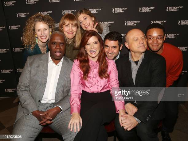 Director Vivienne Benesch, Crystal Finn, Andre Braugher, Debra Messing Enrico Colantoni, Susannah Flood, Playwright Noah Haidle and Christopher...