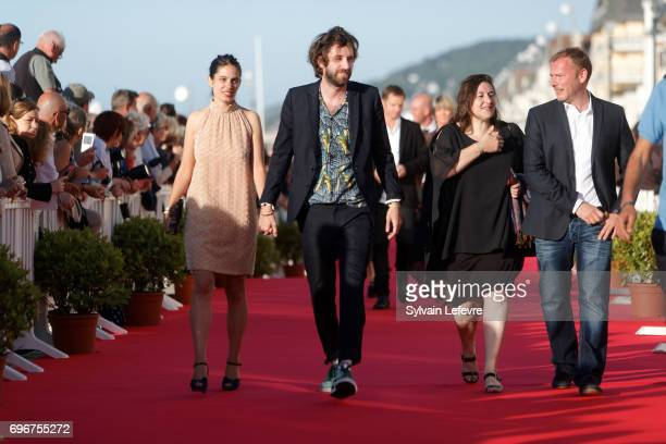 Director Vladimir De Fontenay and girlfriend and guests attend red carpet of 3rd day of the 31st Cabourg Film Festival on June 16 2017 in Cabourg...