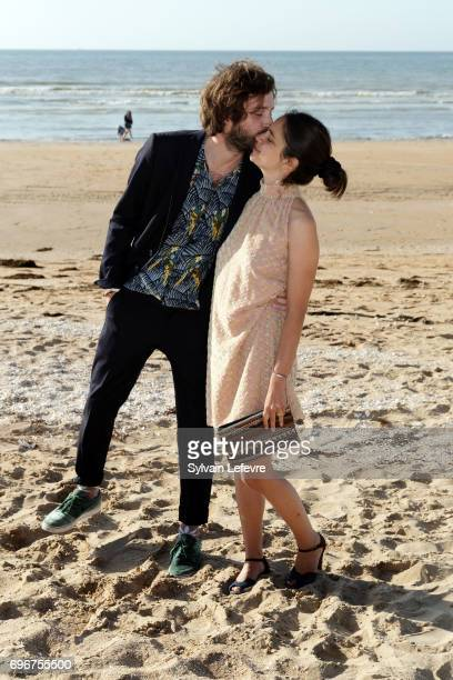 Director Vladimir De Fontenay and girlfriend attend photocall for 'Mobile homes' during 3rd day of the 31st Cabourg Film Festival on June 16 2017 in...