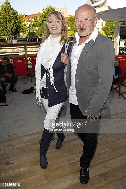 Director Volker Schlöndorff With wife Angelika In The anniversary party 10 years in the Xrental department in Berlin Rodeo