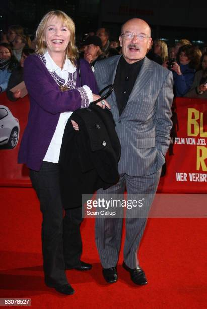 Director Volker Schloendorff and his wife Angelika attend the German premiere of Burn After Reading at the CineStar on October 1 2008 in Berlin...