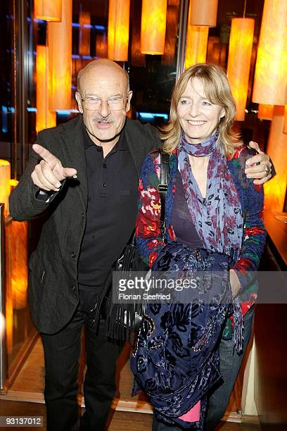 Director Volker Schloendorff and wife Angelika attend the afterparty for 'Das gelbe Segel' at Josty restaurant at Sony Center on November 17 2009 in...