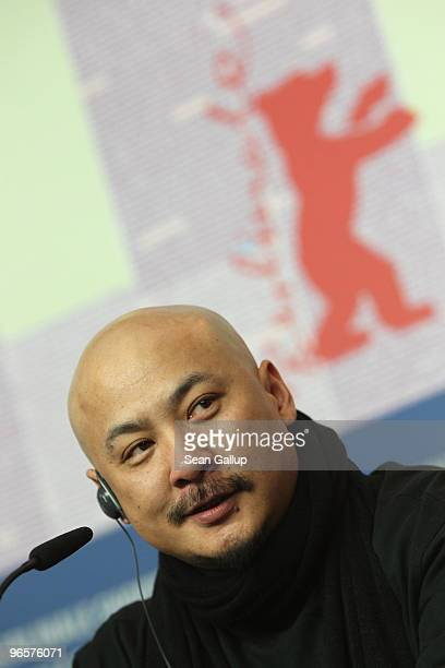 Director Wang Quan�an attends the 'Tuan Yuan' press conference during day one of the 60th Berlin International Film Festival at the Grand Hyatt Hotel...