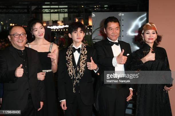Director Wang Xiaoshuai Qi Xi Wang Yuan Zhao Yanguozhang and Ai Liya pose at the 'So Long My Son' premiere during the 69th Berlinale International...