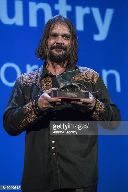Director Warwick Thornton wins the Special Prix of Jury for the film 'Sweet Country' during Ceremony Awards of the 74th Venice International Film...