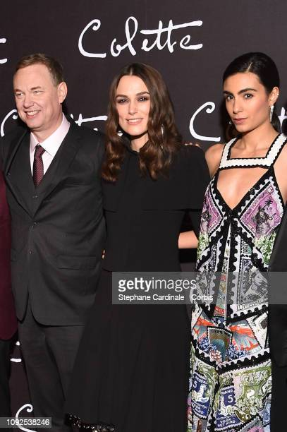 Director Wash Westmoreland Aiysha Hart and Keira Knightley attend 'Colette' Paris Premiere at Cinema Gaumont Marignan on January 10 2019 in Paris...