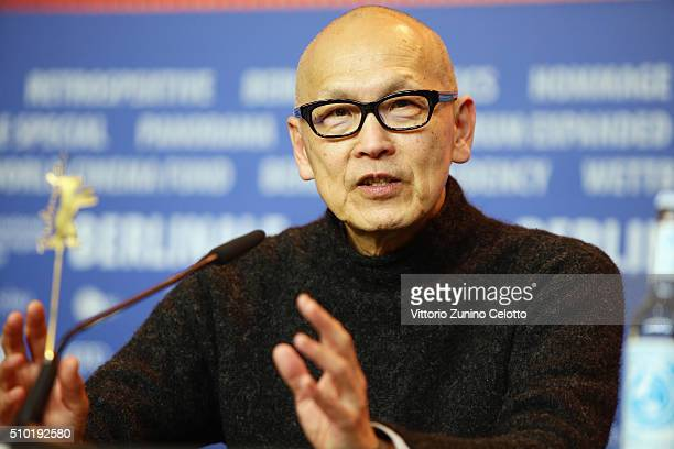 Director Wayne Wang attends the 'While the Women Are Sleeping' press conference during the 66th Berlinale International Film Festival Berlin at Grand...