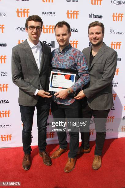 Director Wayne Wapeemukwa poses after being awarded The City of Toronto Award for Best Canadian First Feature Film for 'Luk'Luk'I' at the 2017 TIFF...