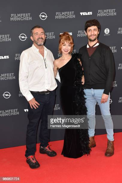 Director Wendy McColm with cast during the opening night of the Munich Film Festival 2018 at Mathaeser Filmpalast on June 28 2018 in Munich Germany
