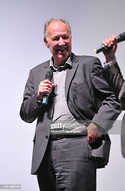 Director Werner Herzog attends Into The Abyss Premiere at Ryerson Theatre during the 2011 Toronto International Film Festival on September 8 2011 in...
