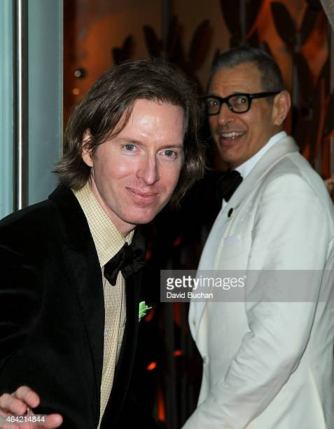 Director Wes Anderson and actor Jeff Goldblum attend the 21st Century Fox and Fox Searchlight Oscar Party at BOA Steakhouse on February 22 2015 in...