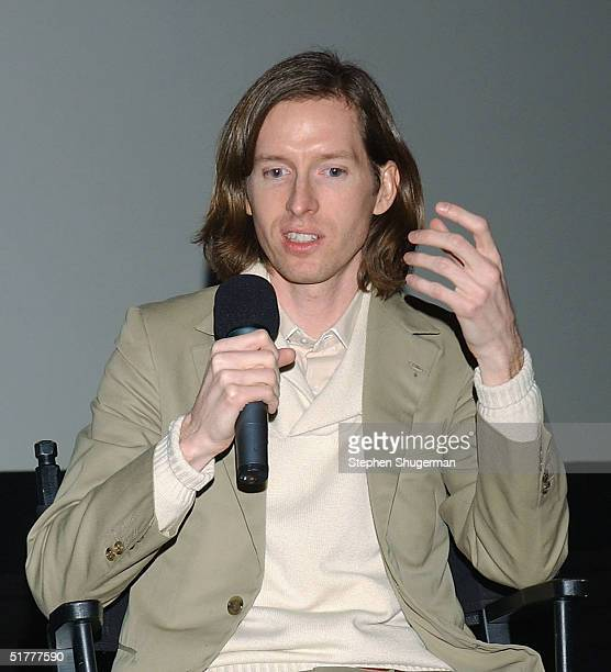 "Director Wes Anderson answers questions from the audience during the Q & A following the Variety Screening Series - ""The Life Aquatic with Steve..."