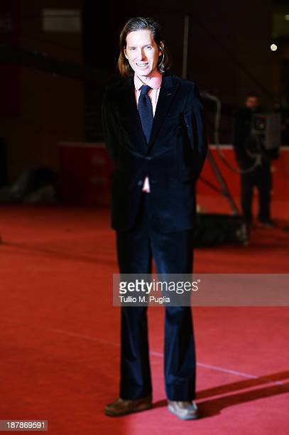 Director Wes Anderson appears on The Red Carpet during The 8th Rome Film Festival at Auditorium Parco Della Musica on November 13 2013 in Rome Italy