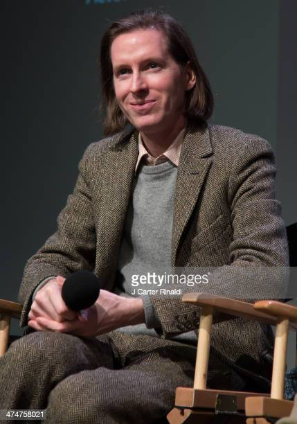 Director Wes Anderson attends Meet The Filmmakers 'The Grand Budapest Hotel' at Apple Store Soho on February 24 2014 in New York City