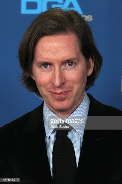 Director Wes Anderson attends the 67th Annual Directors Guild Of America Awards at the Hyatt Regency Century Plaza on February 7 2015 in Century City...