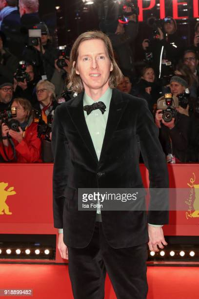 US director Wes Anderson attends the Opening Ceremony 'Isle of Dogs' premiere during the 68th Berlinale International Film Festival Berlin at...