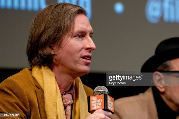 Director Wes Anderson discusses 'Isle Of Dogs' during the New York Screening QA at The Film Society of Lincoln Center Walter Reade Theatre on March...