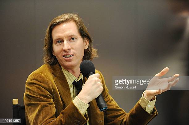 Director Wes Anderson discusses the 10th anniversary of The Royal Tenenbaums at the Apple Store Upper West Side on October 13 2011 in New York City